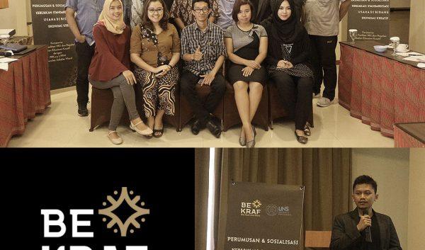Group photo in BEKRAF (Badan Ekonomi Kreatif Indonesia) event