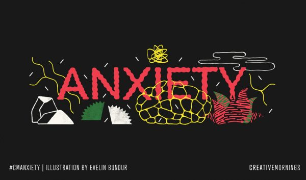 "Graphic typography of the word ""Anxiety"""