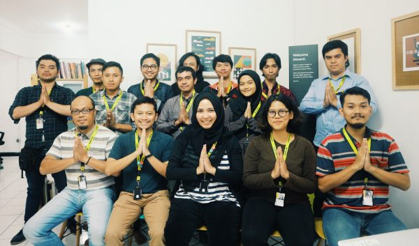 Hubton Staff doing Ramadan Pose
