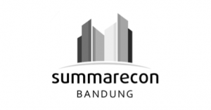 Summarecon Bandung logo in black and white