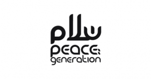 Peace Generation logo in black and white