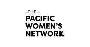 The Pacific Women's Network logo in black and white