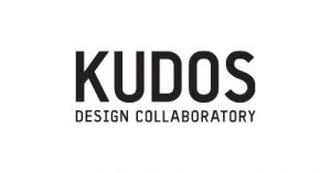 Kudos Design Collaboratory logo in black and white