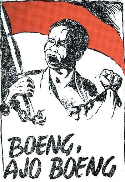 "Original Poster titled ""Boeng, Ajo Boeng"" by Affandi"